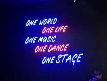 Letras Neon LED Stage music club